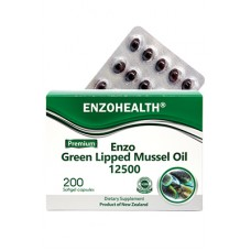 EnzoHealth Enzo Green Lipped Mussel Oil12500 200 Softgel Capsules