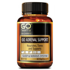 GO Healthy GO Adrenal Support 60 VegeCapsules