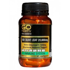 GO Healthy Go Olive Leaf 20,000mg 60 VegeCapsules