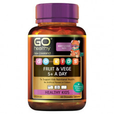 Go Healthy Go Kids Fruit Vege 5 + A Day 60 Chewable Tablets
