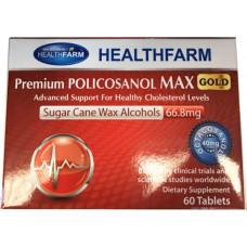 Healthfarm Premium Policosanol Max Gold 66.8mg 60 Tablets