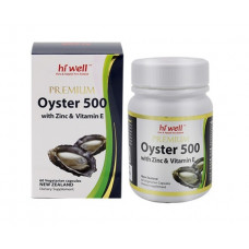 Hi Well Premium Oyster 500 with Zinc & Vitamin E 60 Vegetarian Capsules