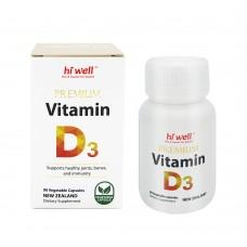 Hi Well Vitamin D3 90 Vegetable Capsules