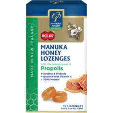 Manuka Health MGO 400+ Manuka Honey Lozenges with Propolis 15 Lozenges