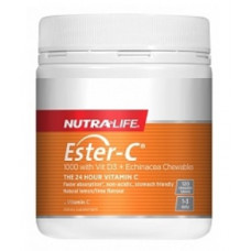 Nutra Life Ester C 1000mg with Vitamin D3 Echinacea 120 Chewable Tablets