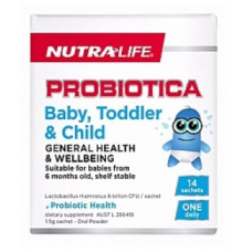 Nutra Life Probiotica Baby Toddler Child 14 Sachets