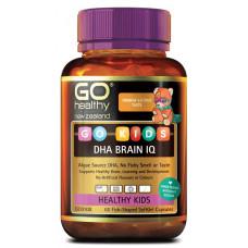 Go Healthy Go Kids DHA Brain IQ 60 Fish-Shaped SoftGel Capsules