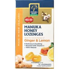Manuka Health MGO 400 Manuka Honey Lozenges with Ginger and Lemon 65g