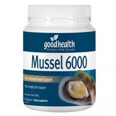 Good Health New Zealand Green Lipped Mussel 6000  300 Capsules