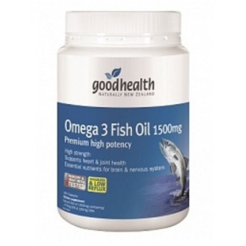 Good health omega 3 fish oil 1500mg 400 capsules for What is omega 3 fish oil good for