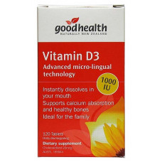Good Health Vitamin D3 120 Chewable Tablets