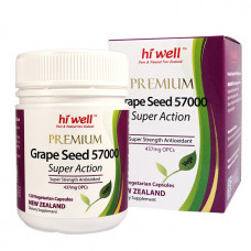 Hi Well Premium Grape Seed 57000 120 Vege Capsules