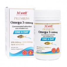 Hi Well Premium Omega 3 1500mg One A Day 90 Soft Gels
