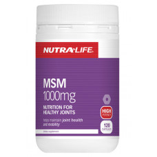 Nutra Life MSM 1000mg 120 Capsules