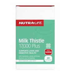 Nutra Life Milk Thistle 17,000 Plus 60 Capsules