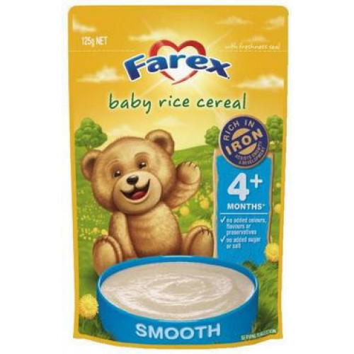 Farex Baby Rice Cereal 4 Month 125g