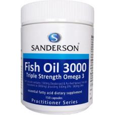 Sanderson Fish Oil 3000 Triple Strength Omega 3 150 Capsules