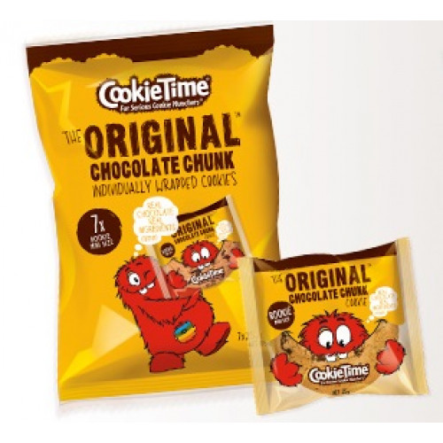 Cookietime Original Chocolate Chunk Cookies 25g X 7 Pack