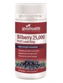 Good Health Bilberry 25,000 + Lutein 6mg 60 Capsules