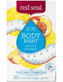 Red Seal Body Right Peach & Pineapple with Garcinia Cambogia 20 Teabags