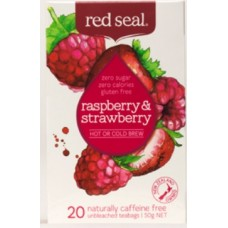 Red Seal Raspberry & Strawberry Fruit Tea 20 Teabags 50g
